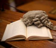 WEB wig and book in court second